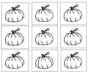 Autumn Fall Halloween Pumpkin Cut & Paste Sentence Making Literacy 4 Early Years