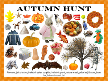 Autumn/Fall Hunt I Spy Game Mat