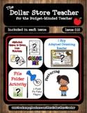 Autumn Fall  Issue 010 - The Dollar Store Teacher Newslett
