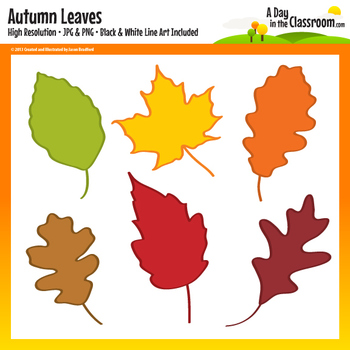Autumn / Fall Leaf Clip Art Graphics