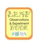 Autumn Fall Leaf Observation & Experiment Inquiry Scientific Method Book