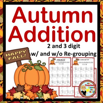 Autumn / Fall Leaves Addition - Color the Sum