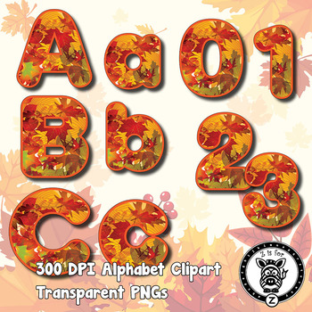 Autumn / Fall Leaves Alpha Clip Art