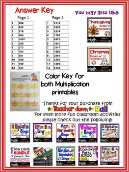Autumn / Fall Leaves Multiplication - Color the Products!