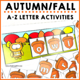 Autumn Fall Letter Activities Sorts I Make a Word I Alphabet