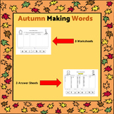 Autumn / Fall Making Words
