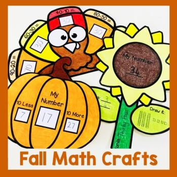 Autumn/Fall Math Crafts (No Prep Craftivity!)