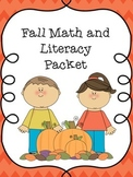 Autumn/Fall Math and Reading Packet K-2