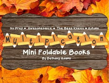 Autumn/Fall Multiplication Mini Books