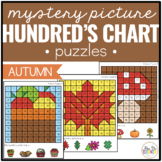 Autumn / Fall Mystery Picture Hundred's Chart Puzzles
