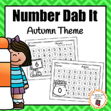 Autumn/Fall Numbers 0-25 Dab It