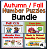 Autumn Fall Number Order Puzzles Bundle