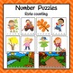 Autumn/Fall Number Puzzles for Rote and Skip Counting