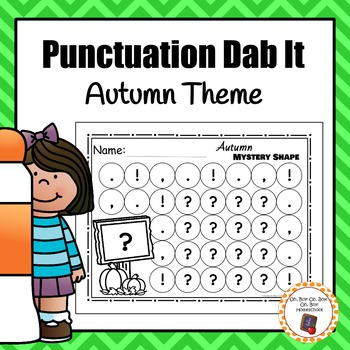 Autumn/Fall Punctuation Dab It Worksheets