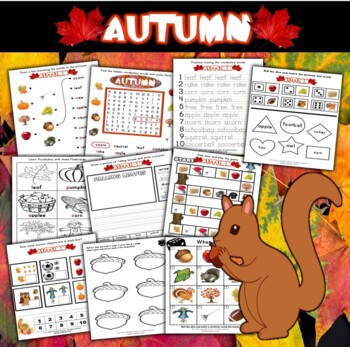 Autumn Fall Season Workbook (70 pages)