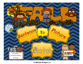 Autumn / Fall Sentence to Picture Match
