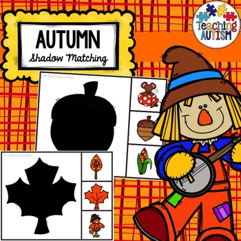 Autumn Fall Shadow Matching Task Cards