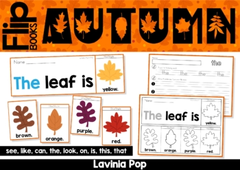 Autumn / Fall Sight Word Fluency Flip Books