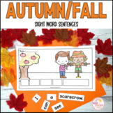 Autumn Fall Sight Word Sentence Writing Activities