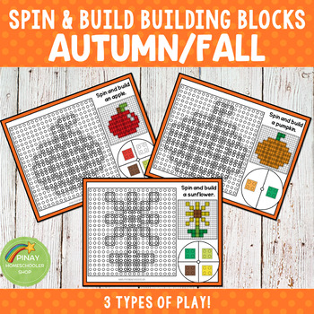 Autumn Fall Spin and Build Building Blocks