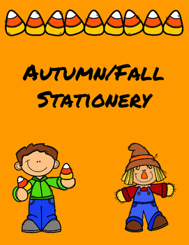 Autumn Fall Stationery for Writing