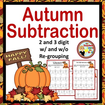 Autumn / Fall Subtraction - Color the Differences!