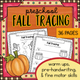 Autumn Fall TRACING Worksheets for Preschool, Prewriting, fine motor activities