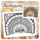 Fall & Thanksgiving Doodle Coloring Pages with turkeys, pu