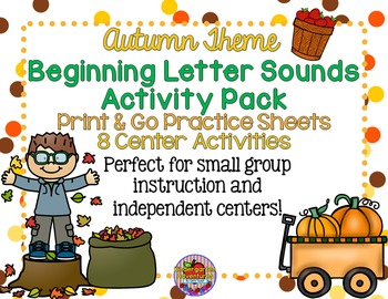 Autumn/Fall Theme Beginning Letter Sounds Activity Pack