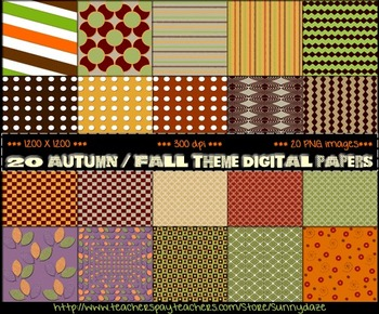 Autumn / Fall Theme Digital Papers