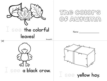 Autumn (Fall) Themed Emergent Readers - Set of 3 Mini-books