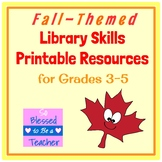 Autumn /  Fall-Themed Library Skills Printable Resources f