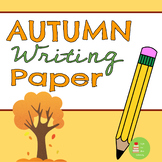 Autumn/Fall Themed Paper with Handwriting Lines ~ Back to