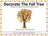 Autumn/Fall Tree Do Together Parent/Child Homework Activity