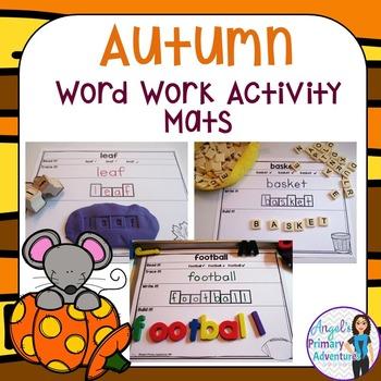 Autumn (Fall) Word Work Activity Mats