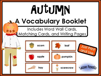 Autumn (Fall) Words: A Vocabulary Booklet