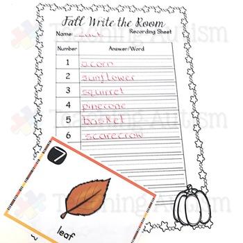 Autumn Fall Write the Room