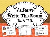 Autumn/Fall Write the Room Activity - Ta & Ti-Ti