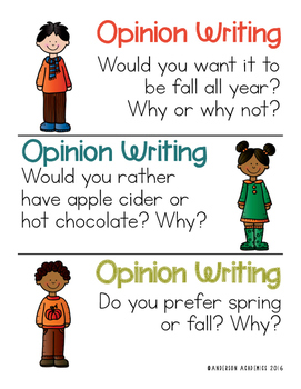 Autumn/Fall Writing Prompts - Informational, Narrative, & Opinion Writing