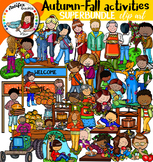 Autumn-Fall activities clip art