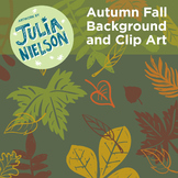 Autumn Fall background and clipart set