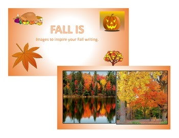"Inspirational PowerPoint-Autumn &""Fall is...""poetry writing lesson"