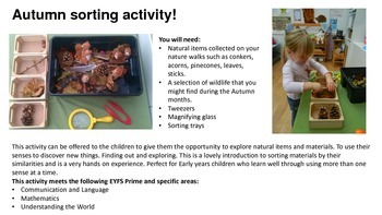 Autumn/ Fall planning and activity pack- EYFS
