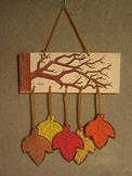 Autumn Falling Leaves Mobile. Fun Craft Art
