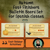 Autumn Fast Finishers Bulletin Board Set - Spanish Class!