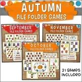 Autumn File Folder Game Bundle