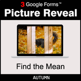 Autumn: Find the Mean - Google Forms Math Game | Distance
