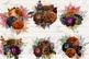 Autumn Floral Bouquets Clipart