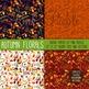 Autumn Flowers Digital Paper Scrapbook Paper, Thanksgiving Flower Backgrounds
