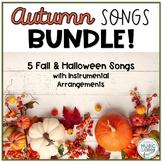 Autumn Halloween Bundle - Fall Songs for Kids, Instrumental Arrangements